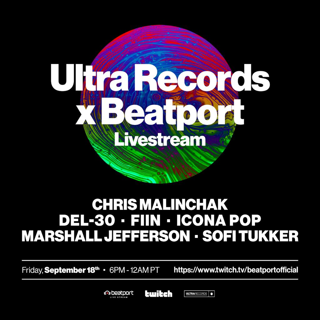 Ultra Records x Beatport Livestream Lineup