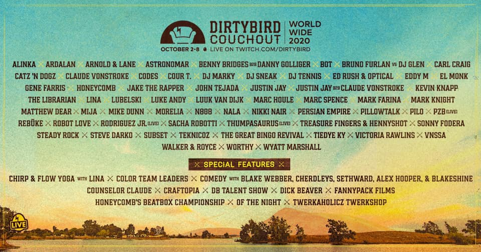 Dirtybird Couchout Phase 2 Lineup