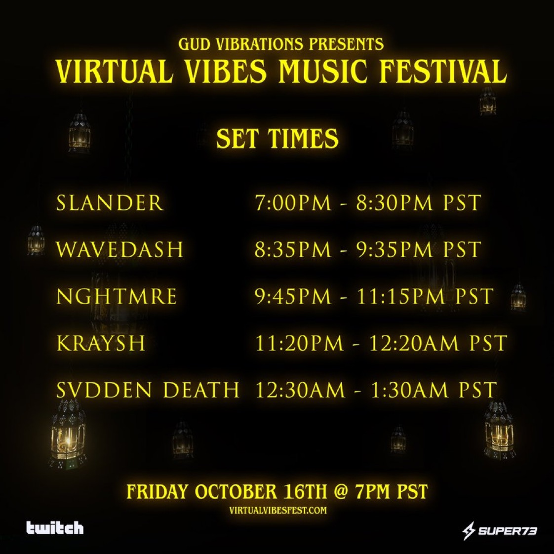 Virtual Vibes Music Festival Set Times