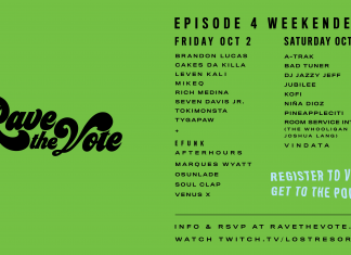 Rave The Vote Finale Lineup