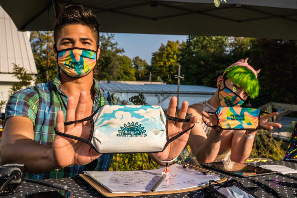 Event Check-in and Complimentary Masks | Photo Credit: Off Brand Project