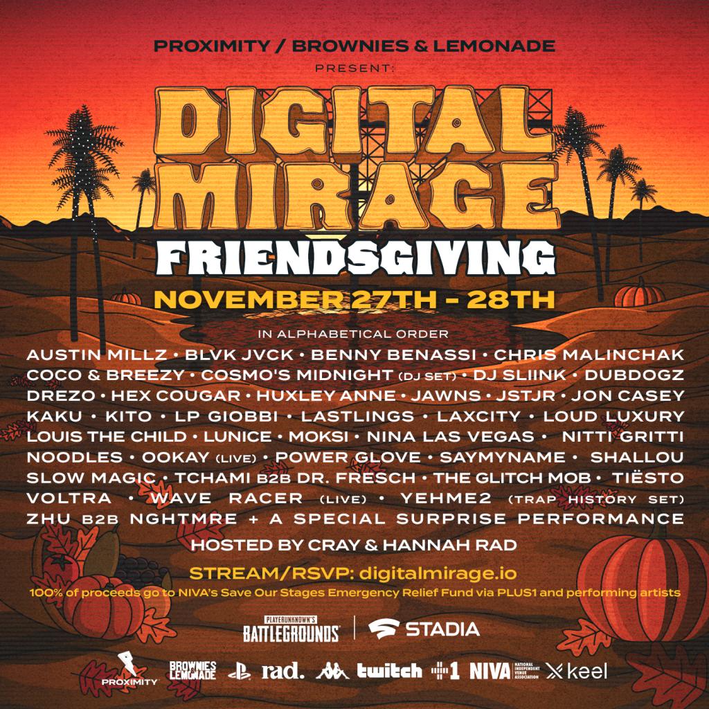Digital Mirage Friendsgiving Lineup