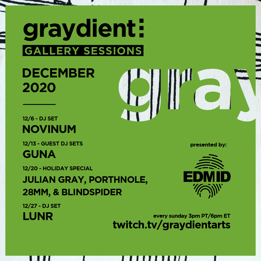Graydient Collective Gallery Sessions December 2020 Flyer