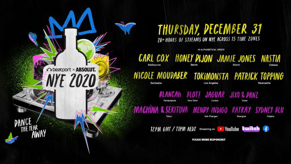 Beatport X Absolut #DanceAway2020 Livestream Lineup