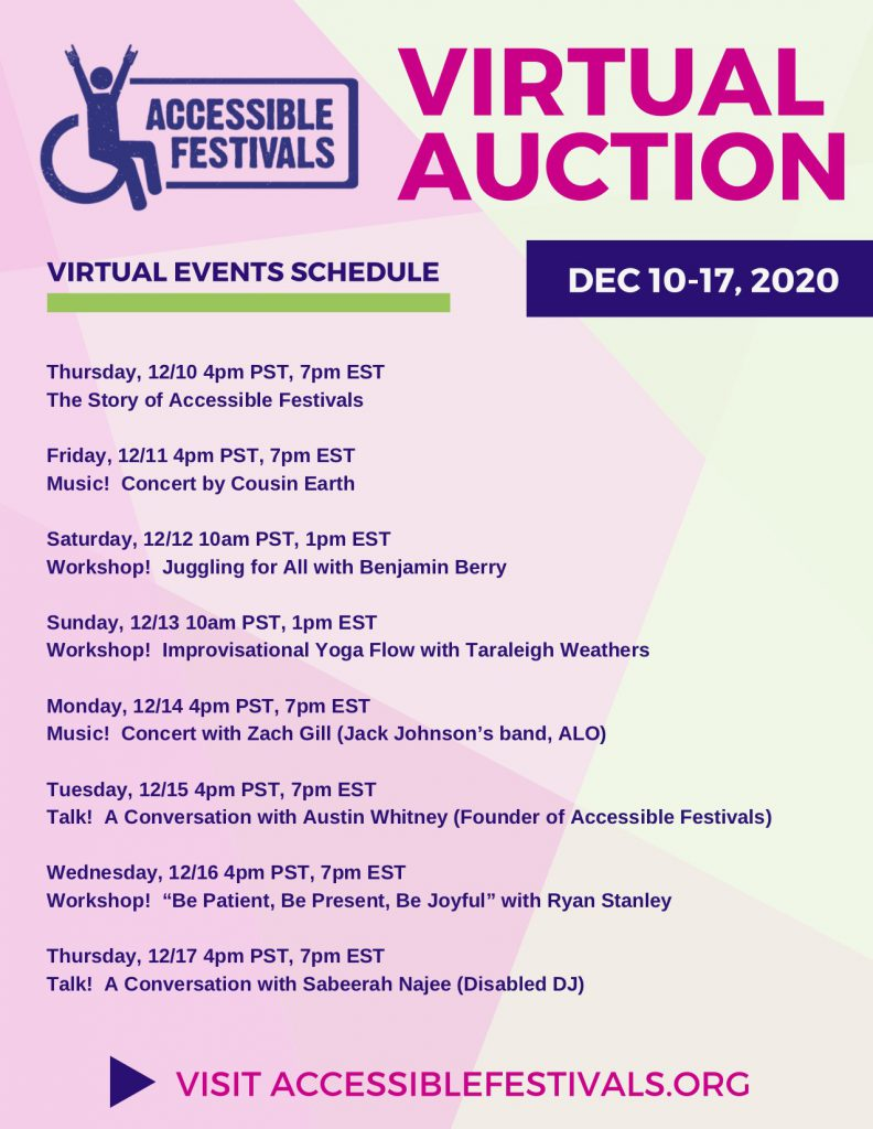Accessible Festivals Event Flyer