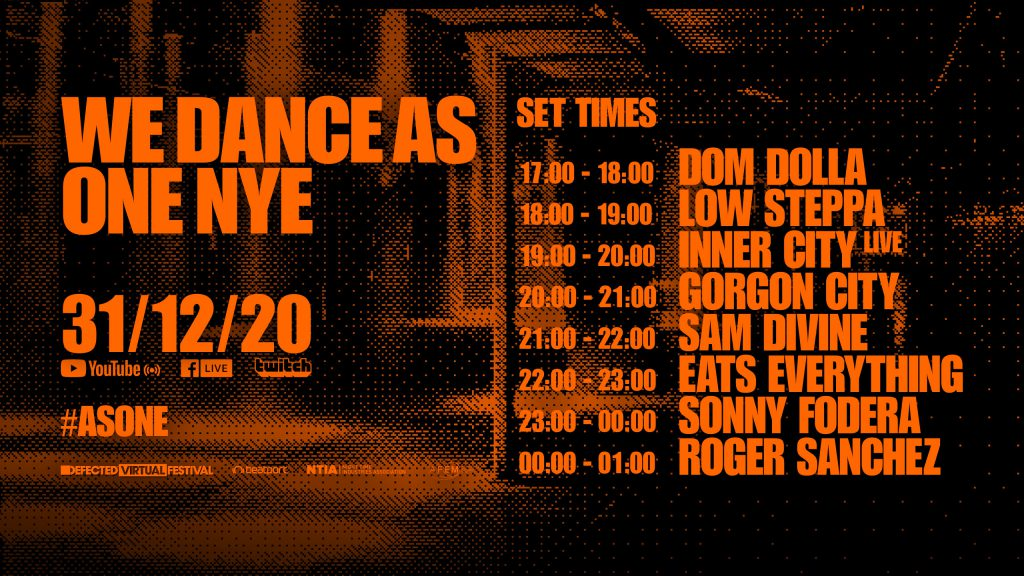 Defected Virtual Festival We Dance As One NYE Set Times