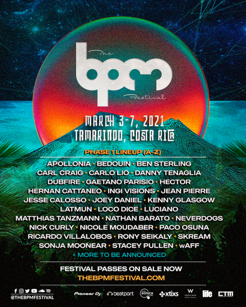 The BPM Festival Costa Rica 2021 Phase 1 Lineup