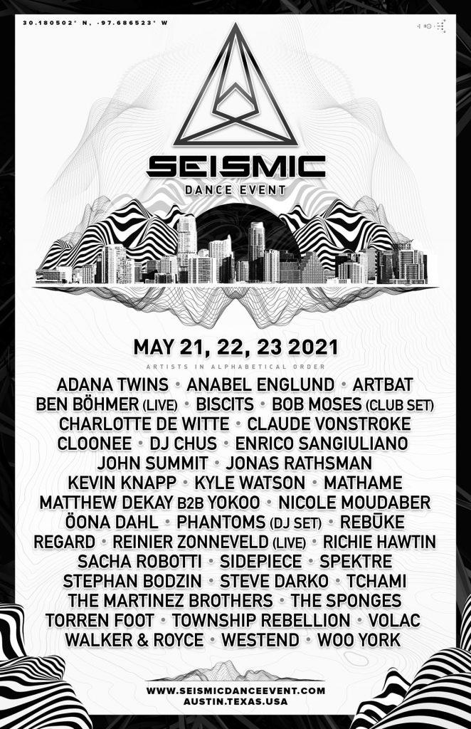 Seismic Dance Event 2021 Lineup