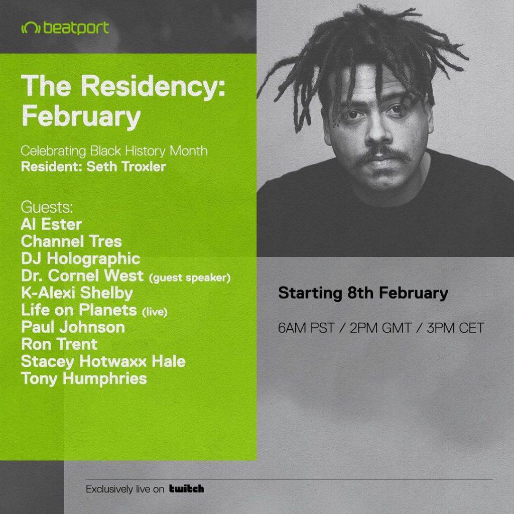Seth Troxler Black History Month Beatport Artist in Residency