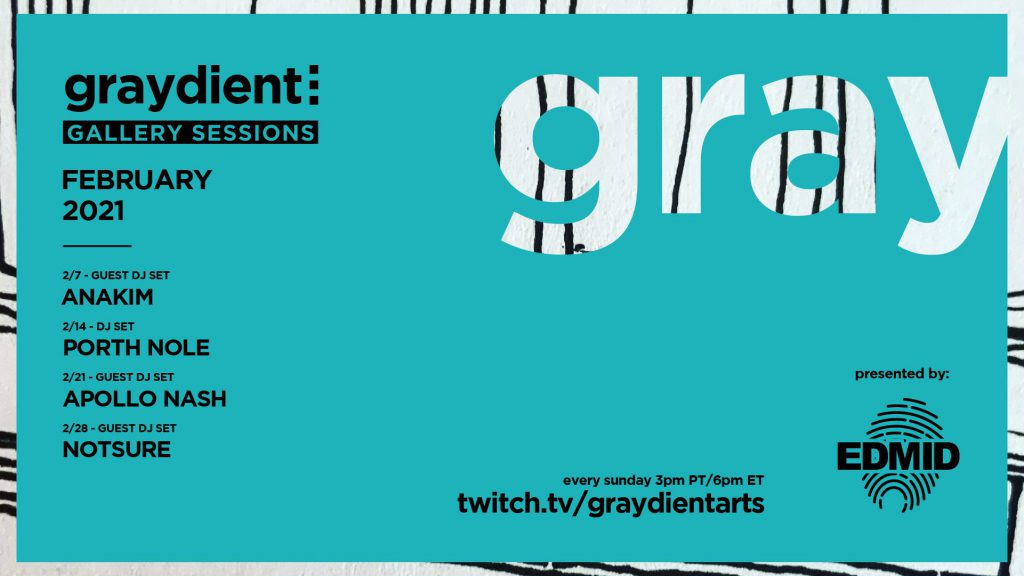 Graydient Collective Gallery Sessions February 2021 Flyer