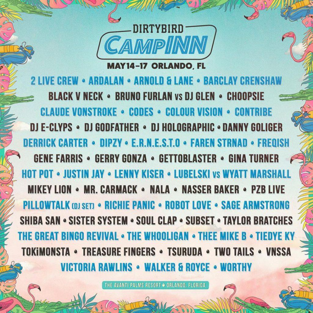 Dirtybird CampINN 2021 Lineup