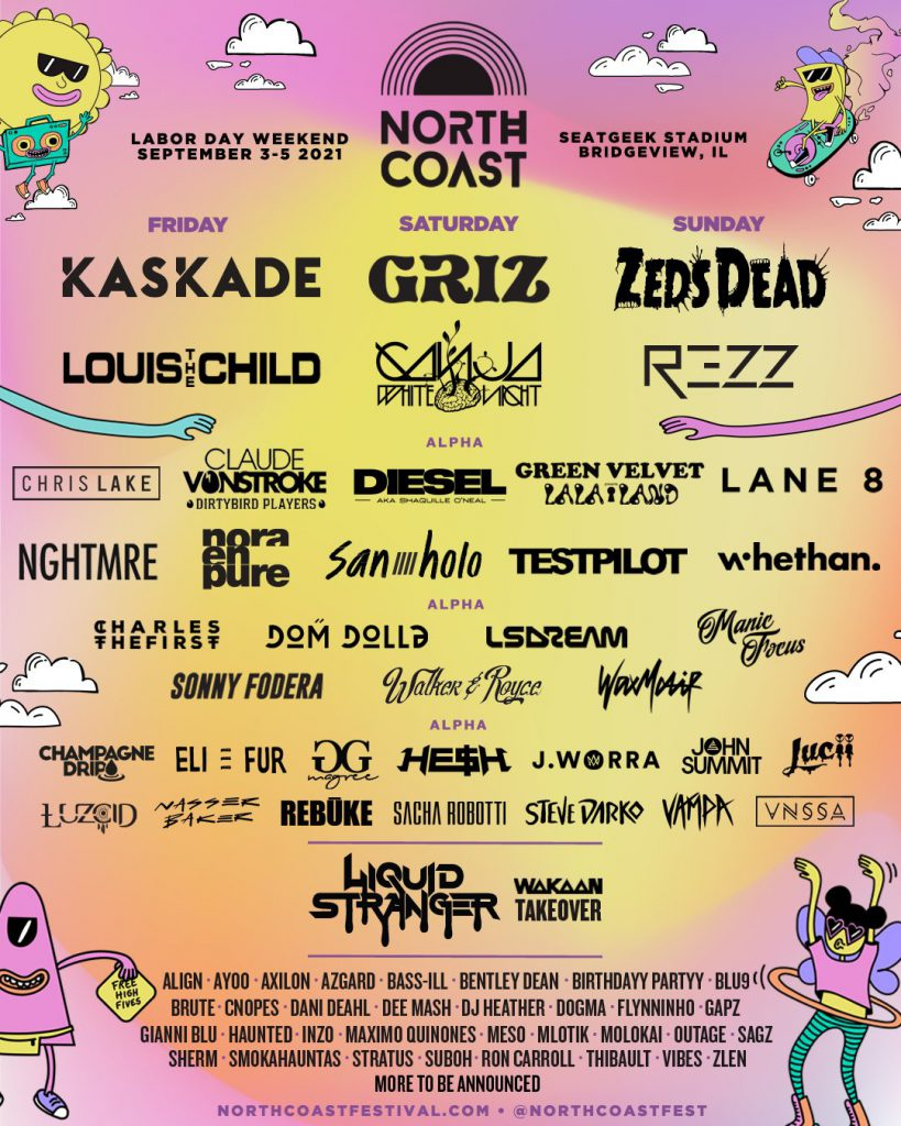 North Coast Music Festival 2021 Lineup