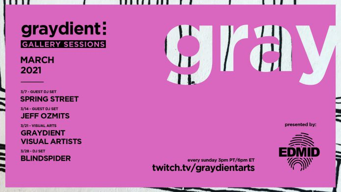 Graydient Collective Gallery Sessions March 2021 Lineup