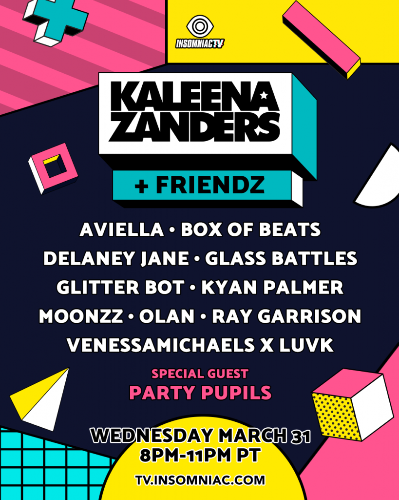 Kaleena Zanders + Friendz Livestream Lineup