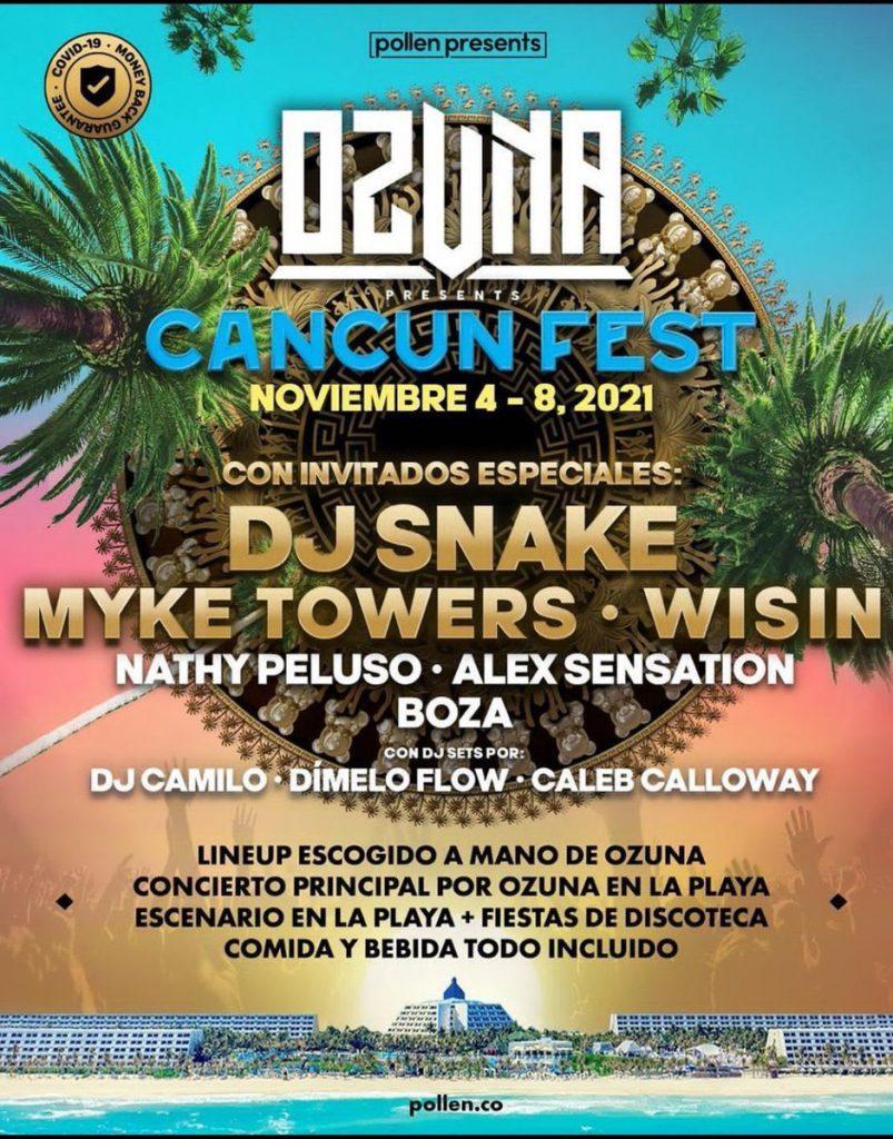 Ozuna Presents Cancun Fest 2021 Lineup