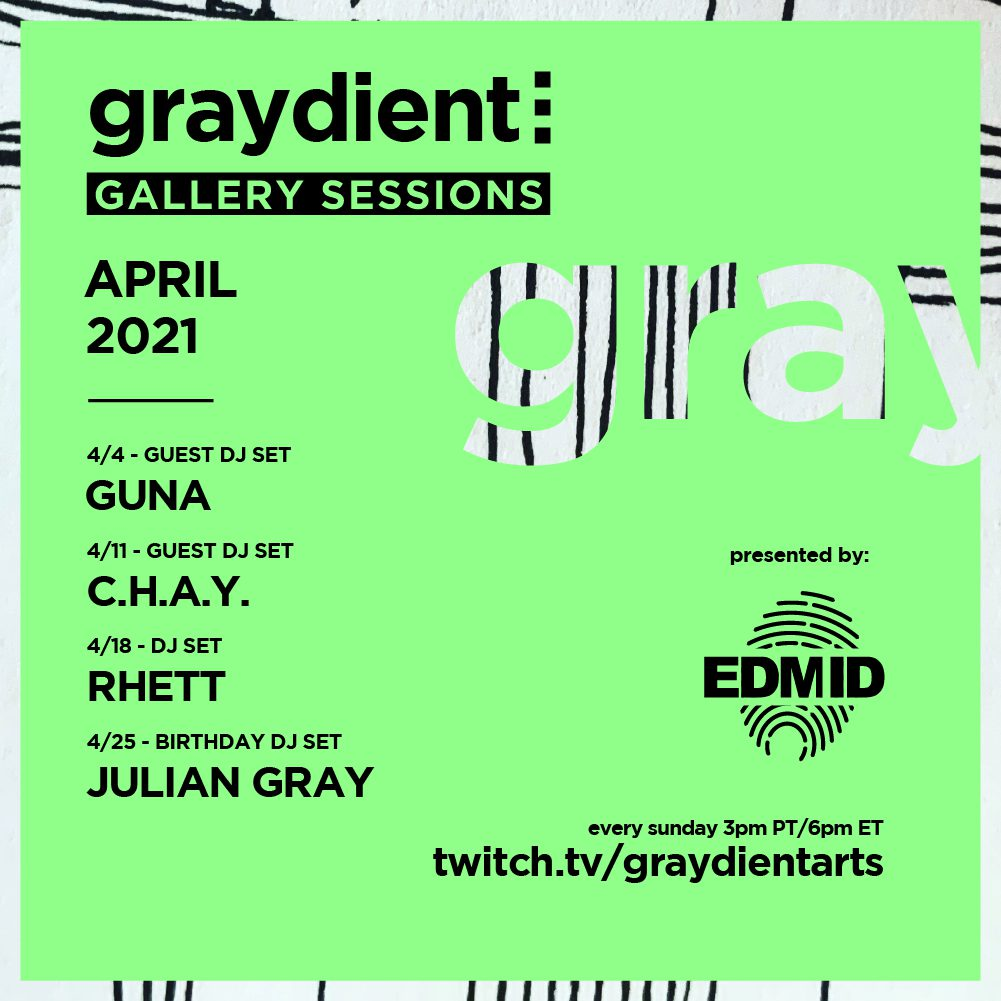Graydient Collective Gallery Sessions April Lineup