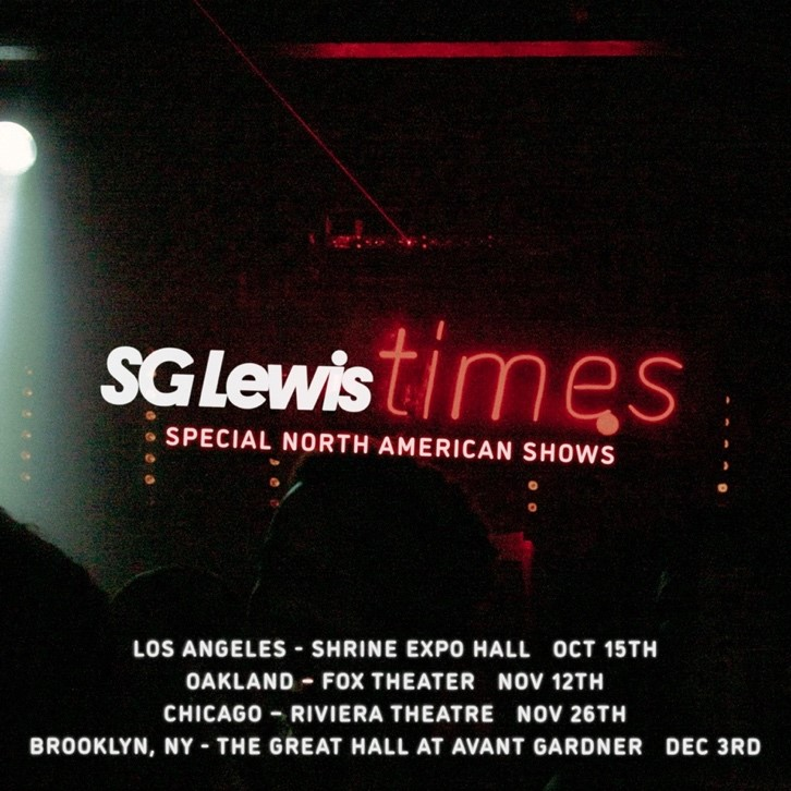 SG Lewis times North American Tour