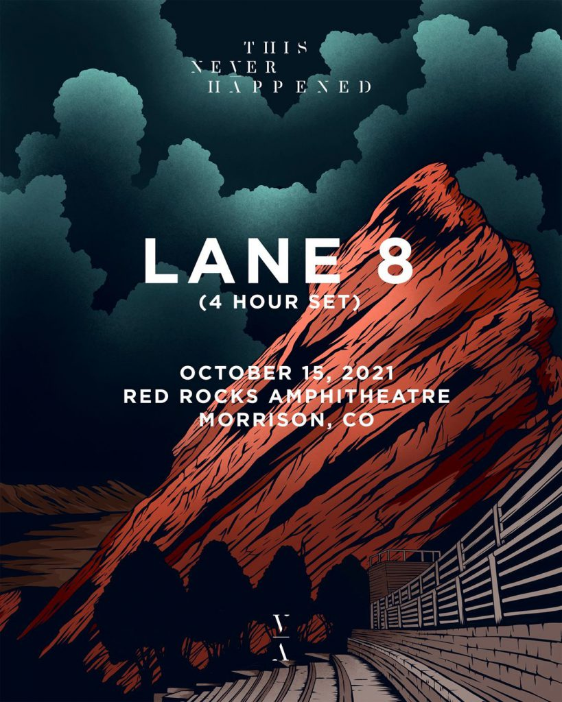 Lane 8 This Never Happened Red Rocks Poster