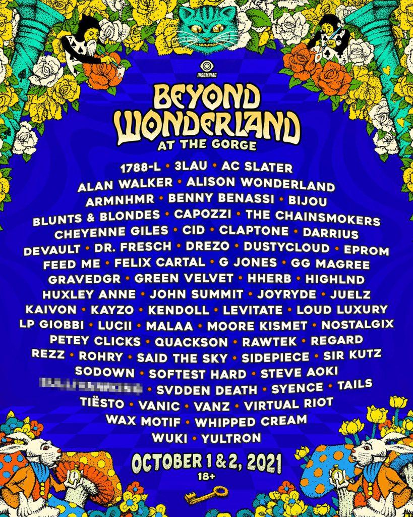 Beyond Wonderland at The Gorge 2021 Lineup