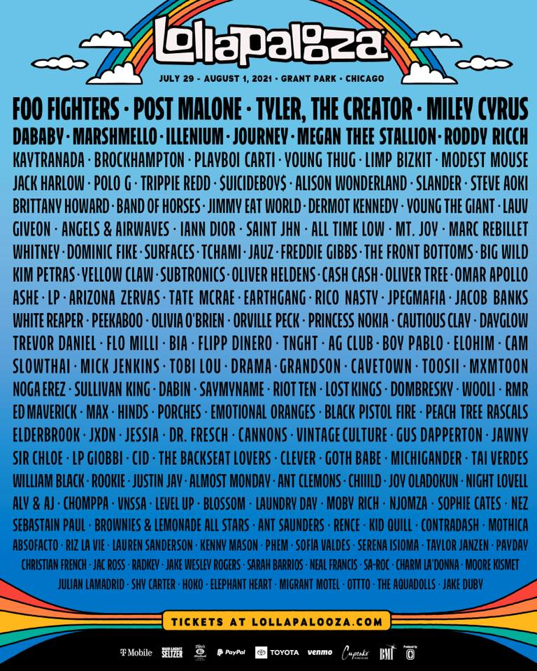 Lollapalooza 2021 Lineup