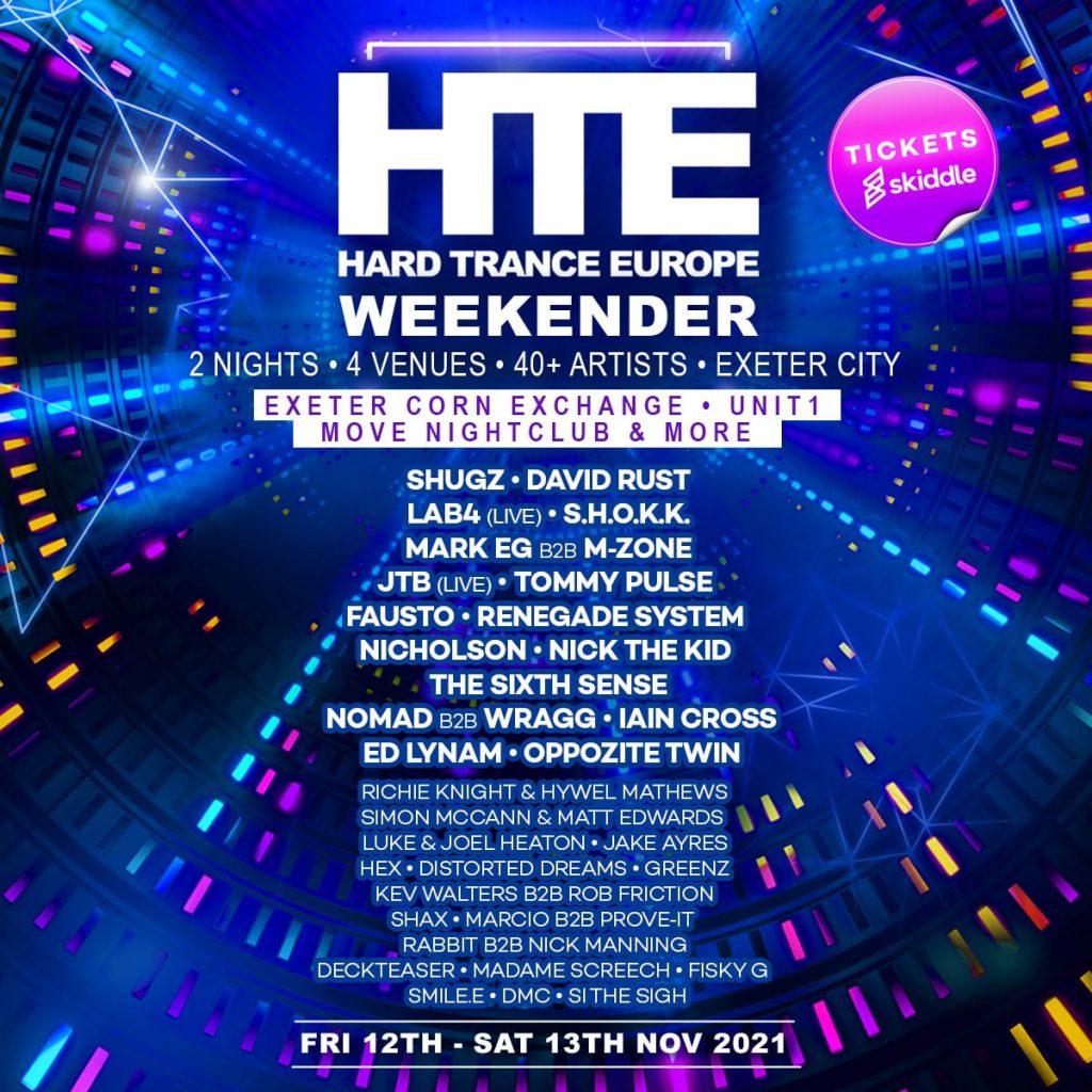 HTE Europe Weekender 2021 Lineup