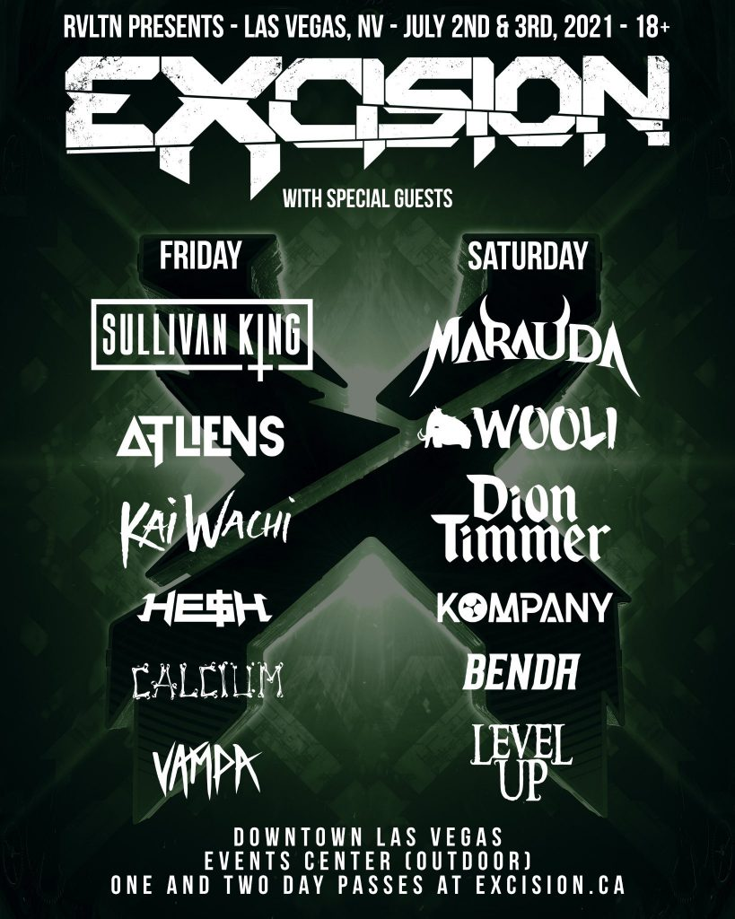 RVLTN Presents: Excision in Las Vegas - Lineup