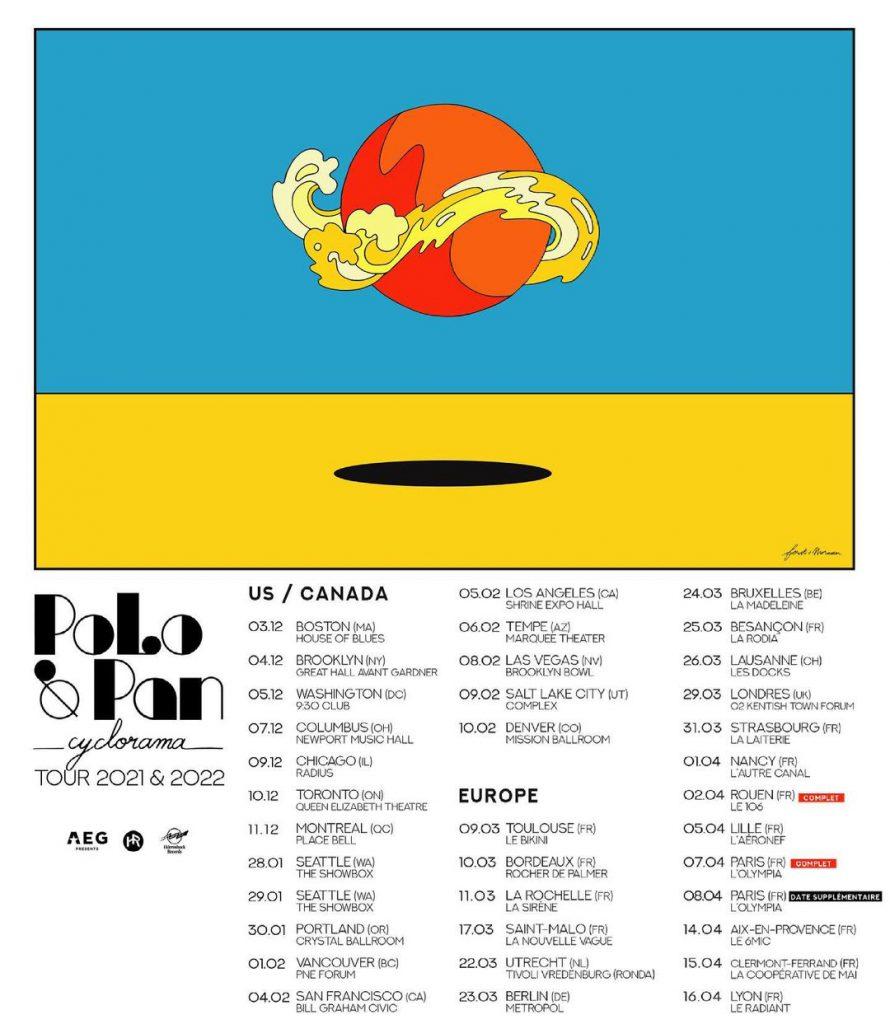 Polo & Pan - Cyclorama Tour Dates 2021/2022