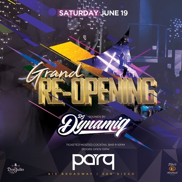 Parq San Diego Grand Reopening DJ Dynamiq