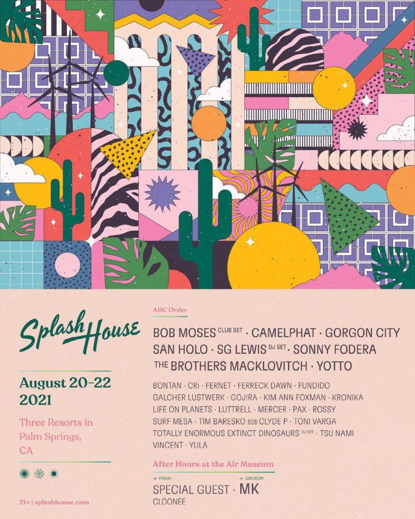Splash House 2021 Lineup - August 20-22