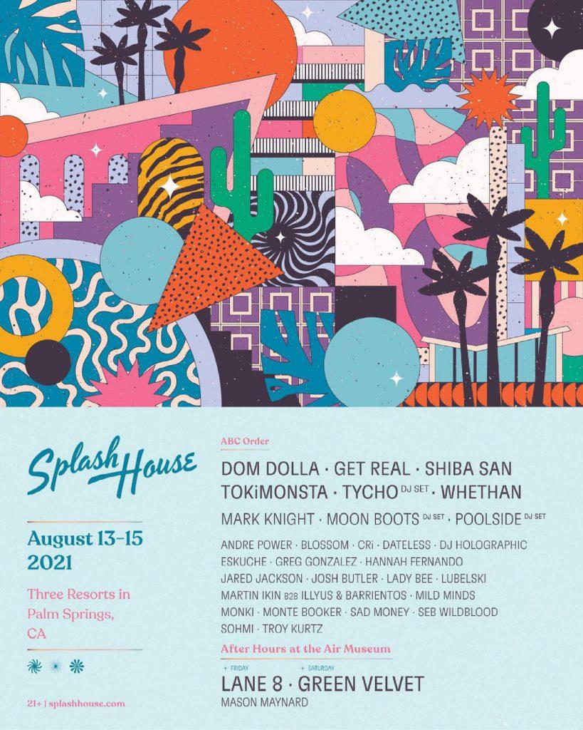 Splash House 2021 Lineup - August 13-15
