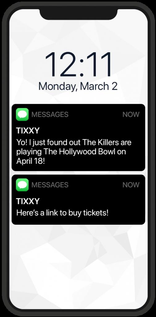 Tixxy Message