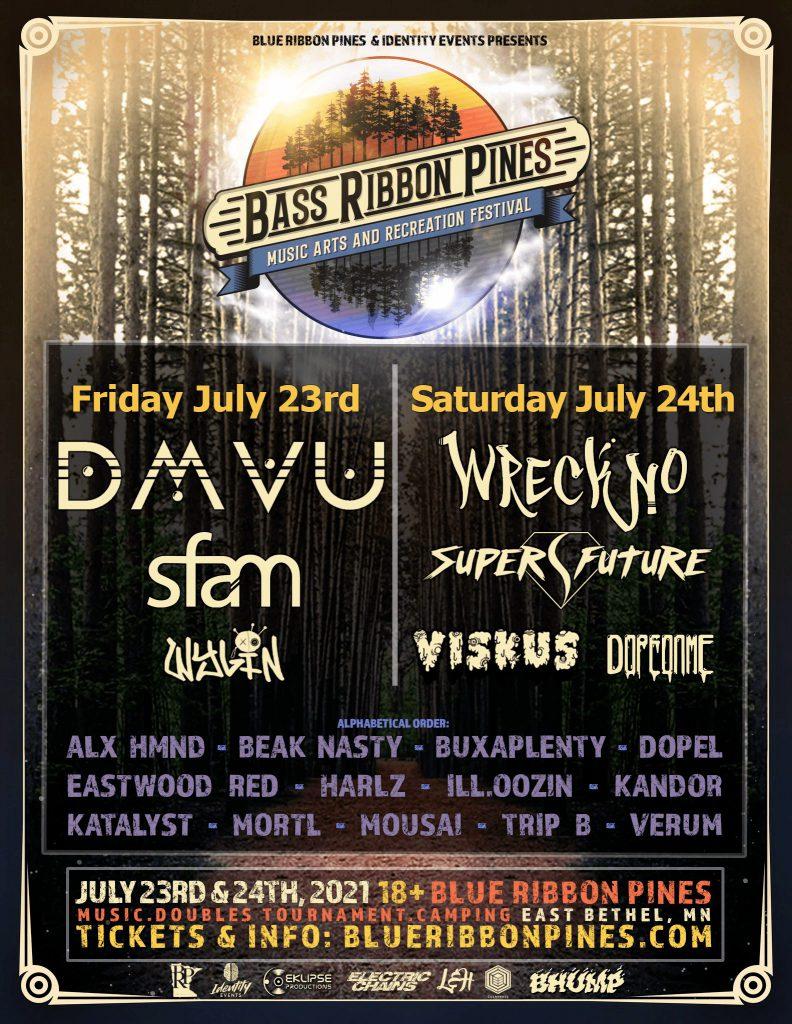 Bass Ribbon Pines Music Festival 2021 Lineup