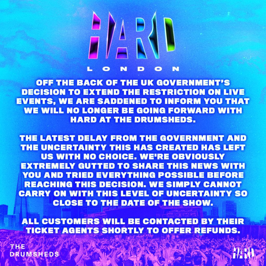 HARD UK Cancelled