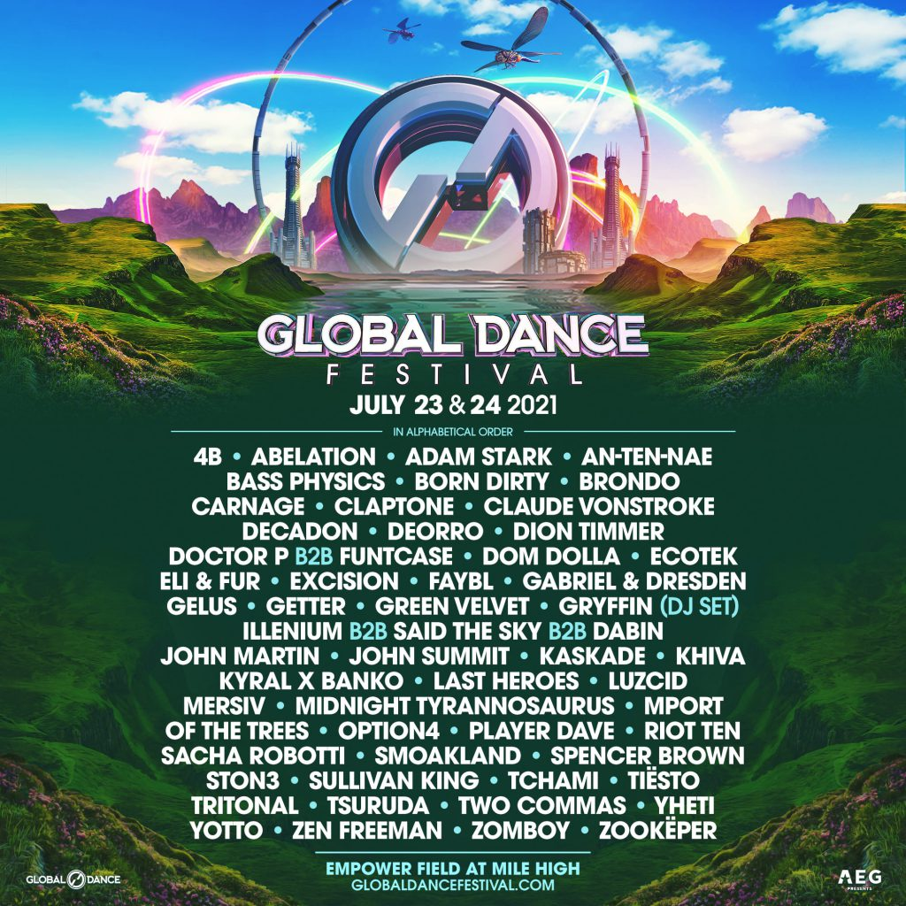 Global Dance Festival 2021 Lineup