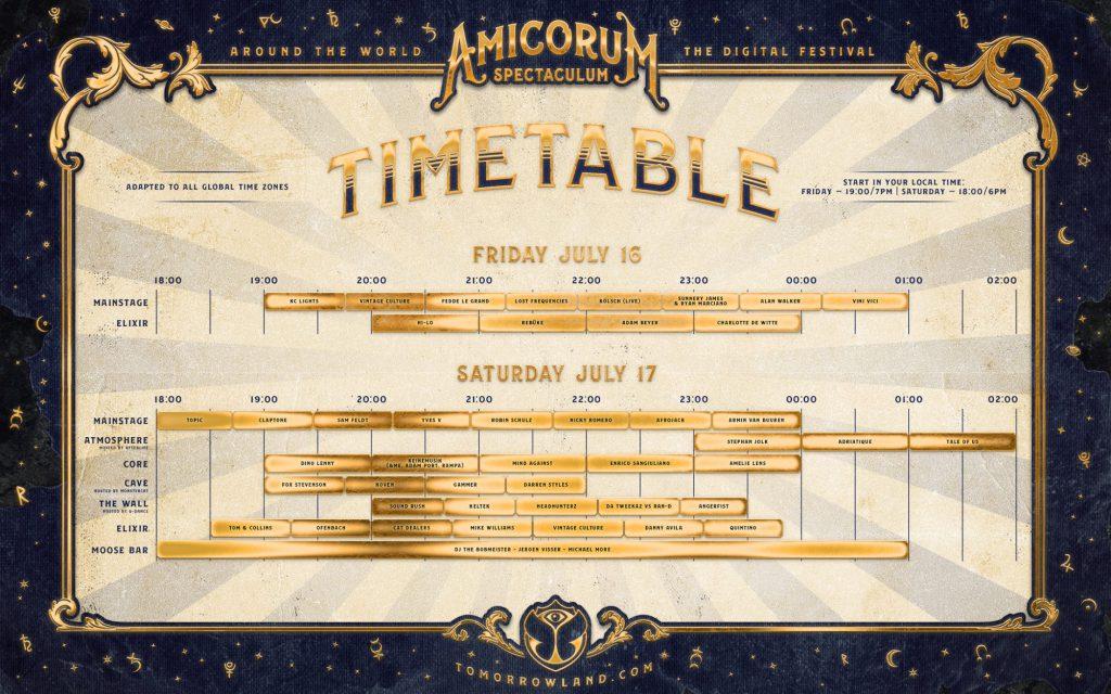 Tomorrowland Around The World 2021 Schedule