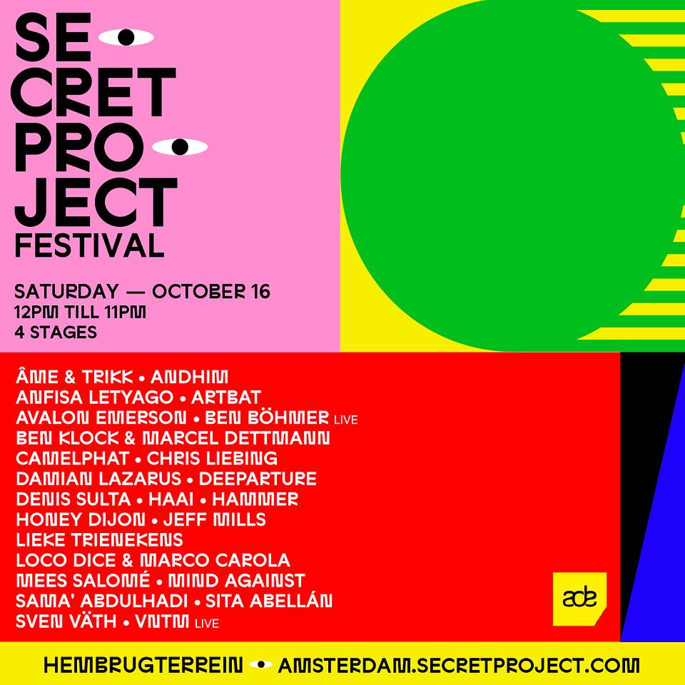 Secret Project Festival Amsterdam 2021 - Lineup