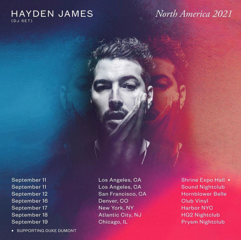 Hayden James North America Tour 2021