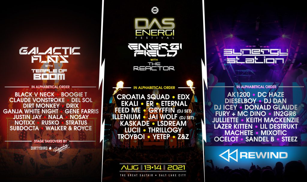 Das Energi 2021 - Lineup By Stage