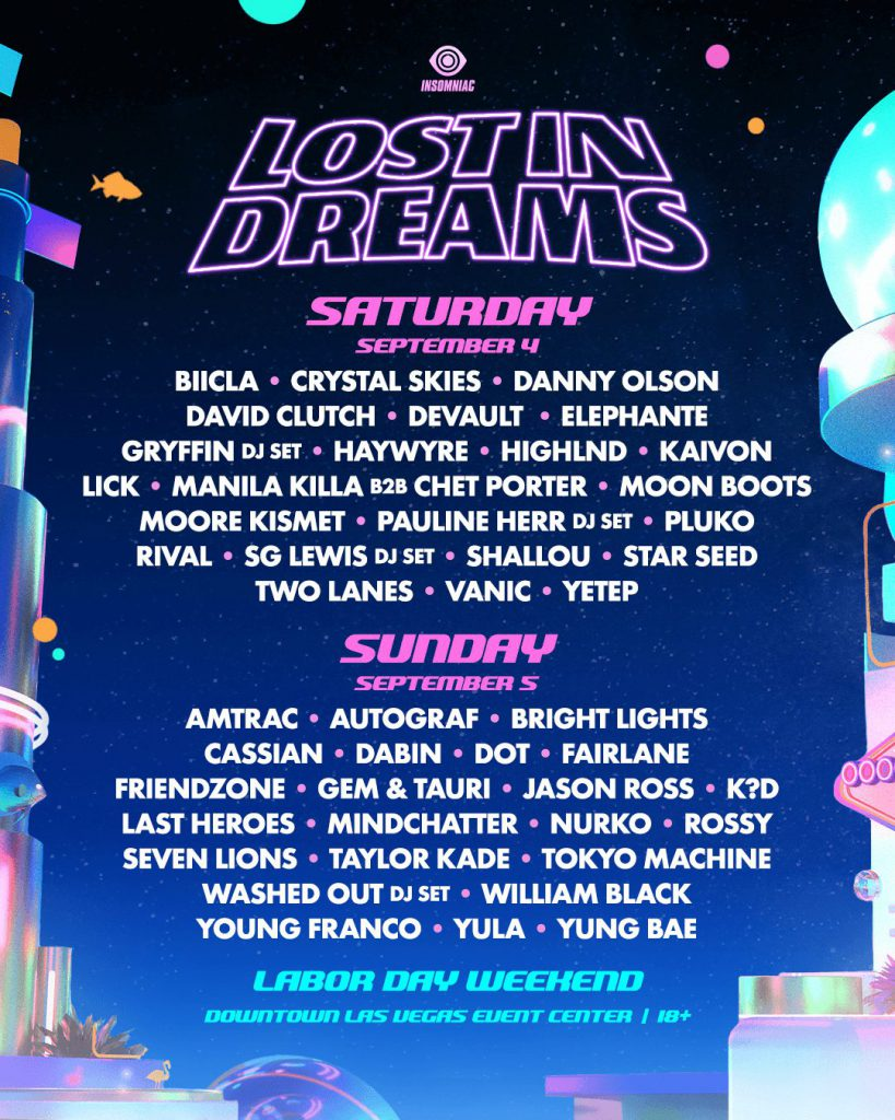 Lost In Dreams Music Festival 2021 Lineup By Day