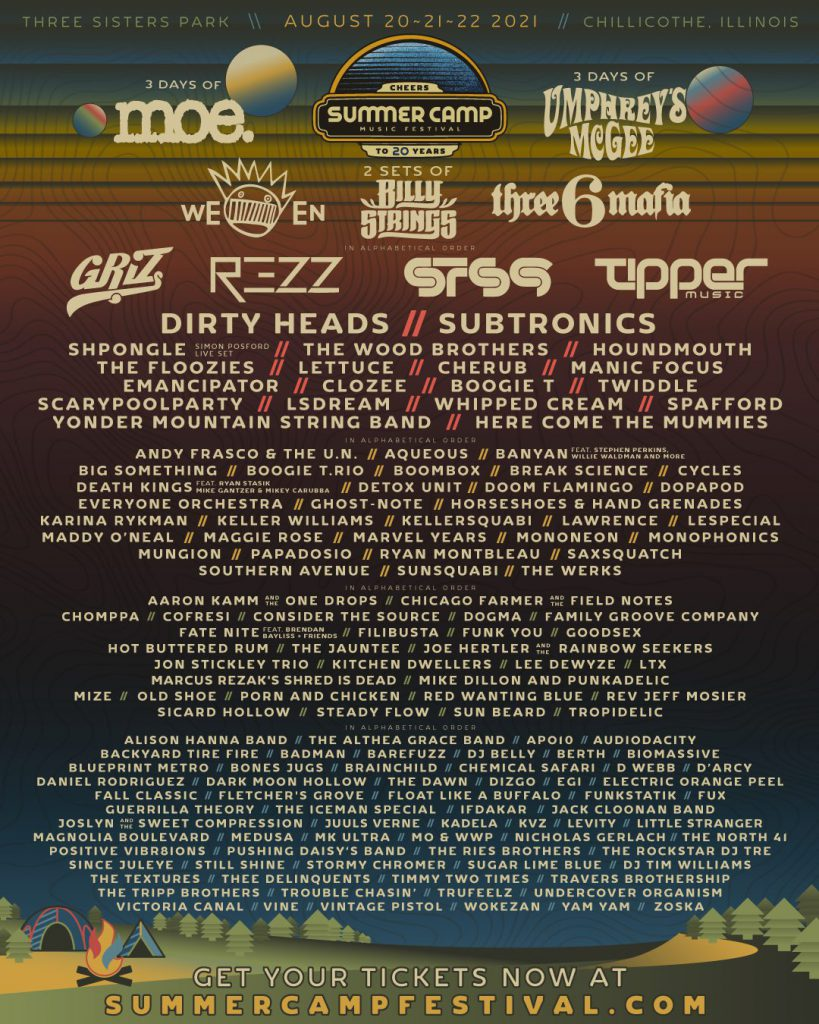 Summer Camp Music Festival 2021 Lineup SCamp