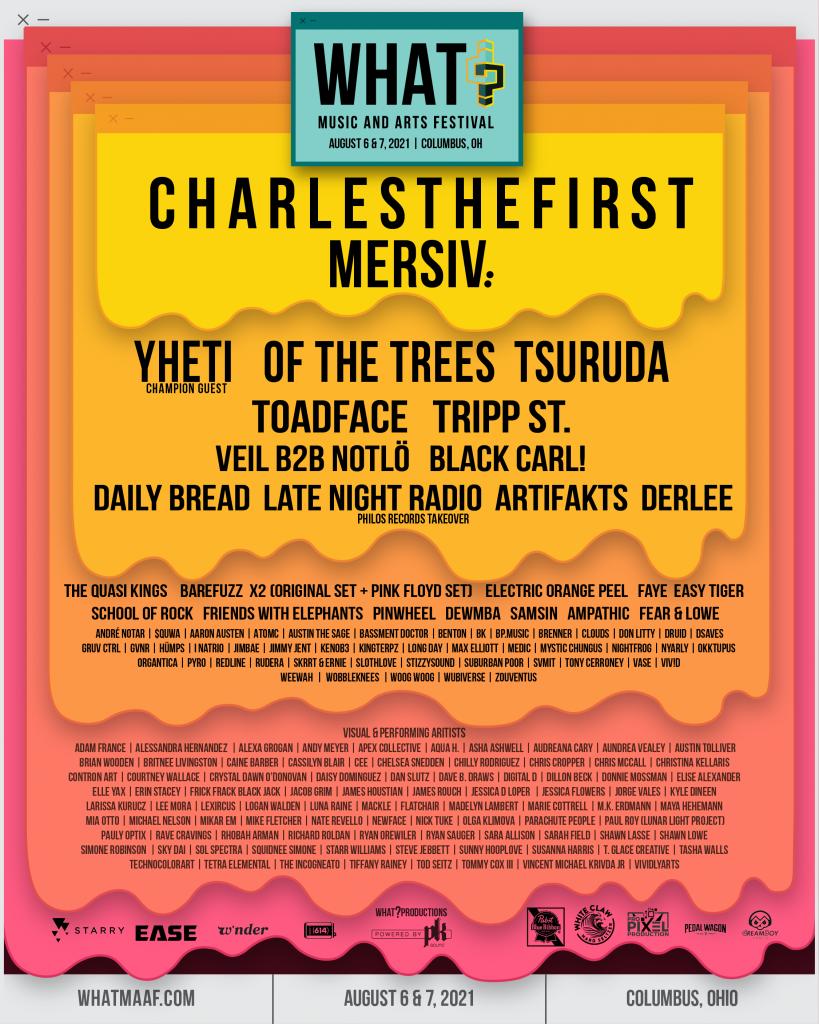 What? Music Festival 2021 Full Lineup