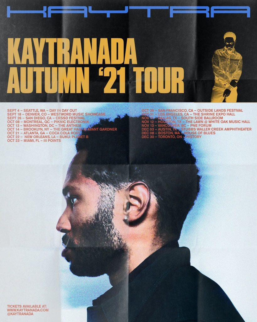 KAYTRANADA Autumn 2021 Tour