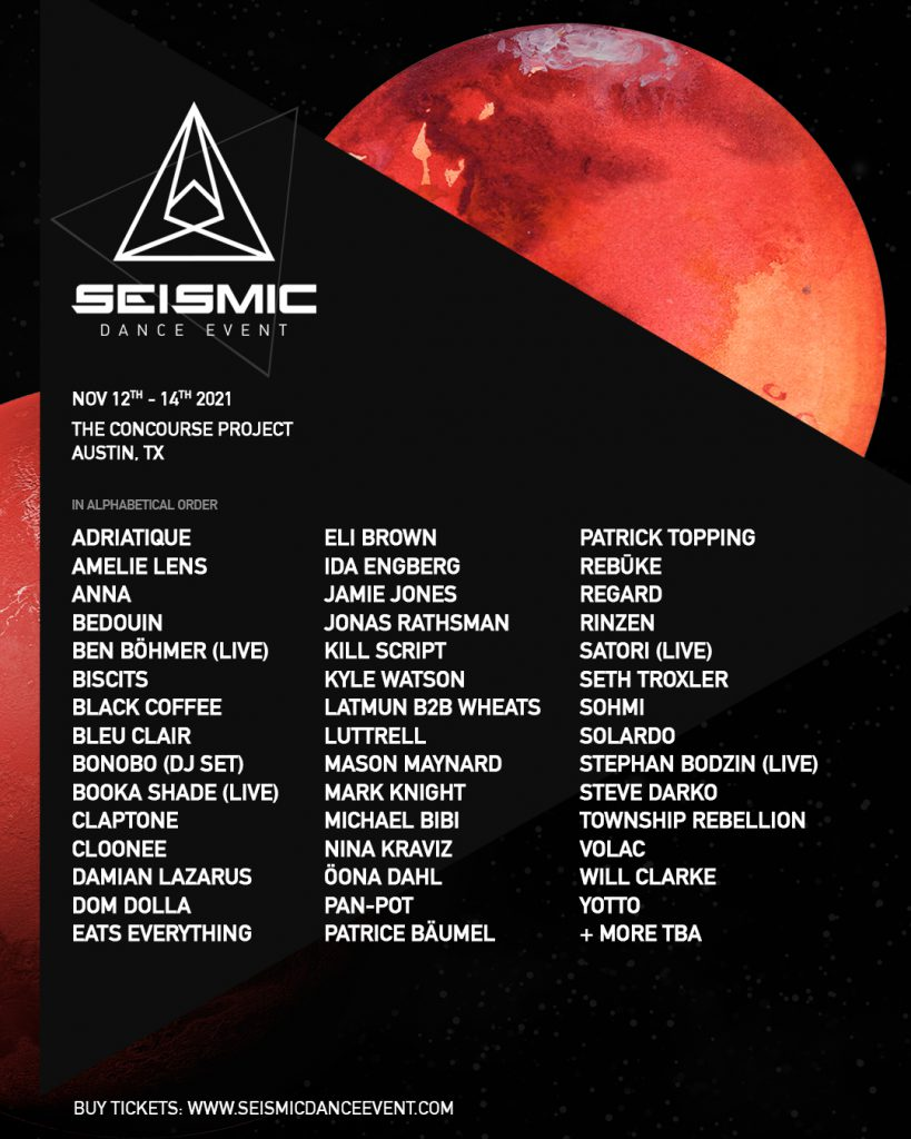 Seismic Dance Event 4.0 Lineup