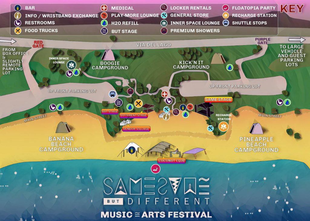 Same Same But Different 2021 Festival Map