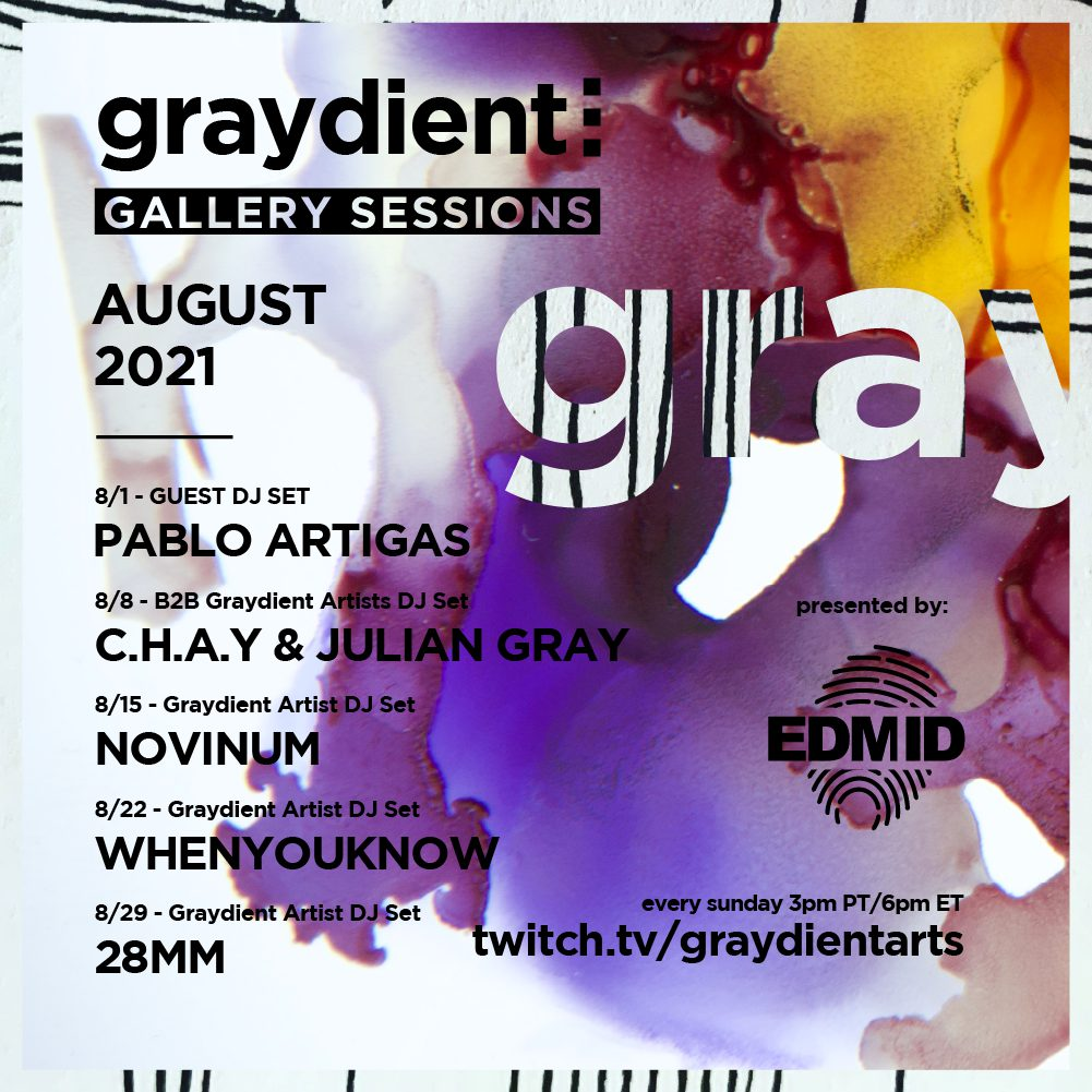 Graydient Collective Gallery Sessions August Lineup