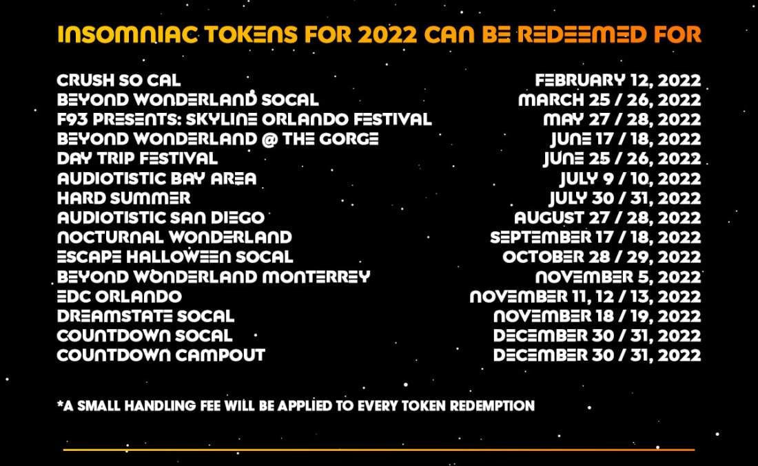 Insomniac events eligible for redemption
