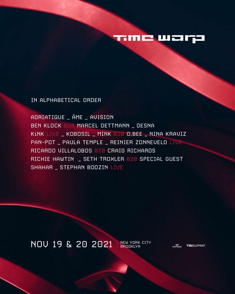 Time Warp USA 2021 Lineup
