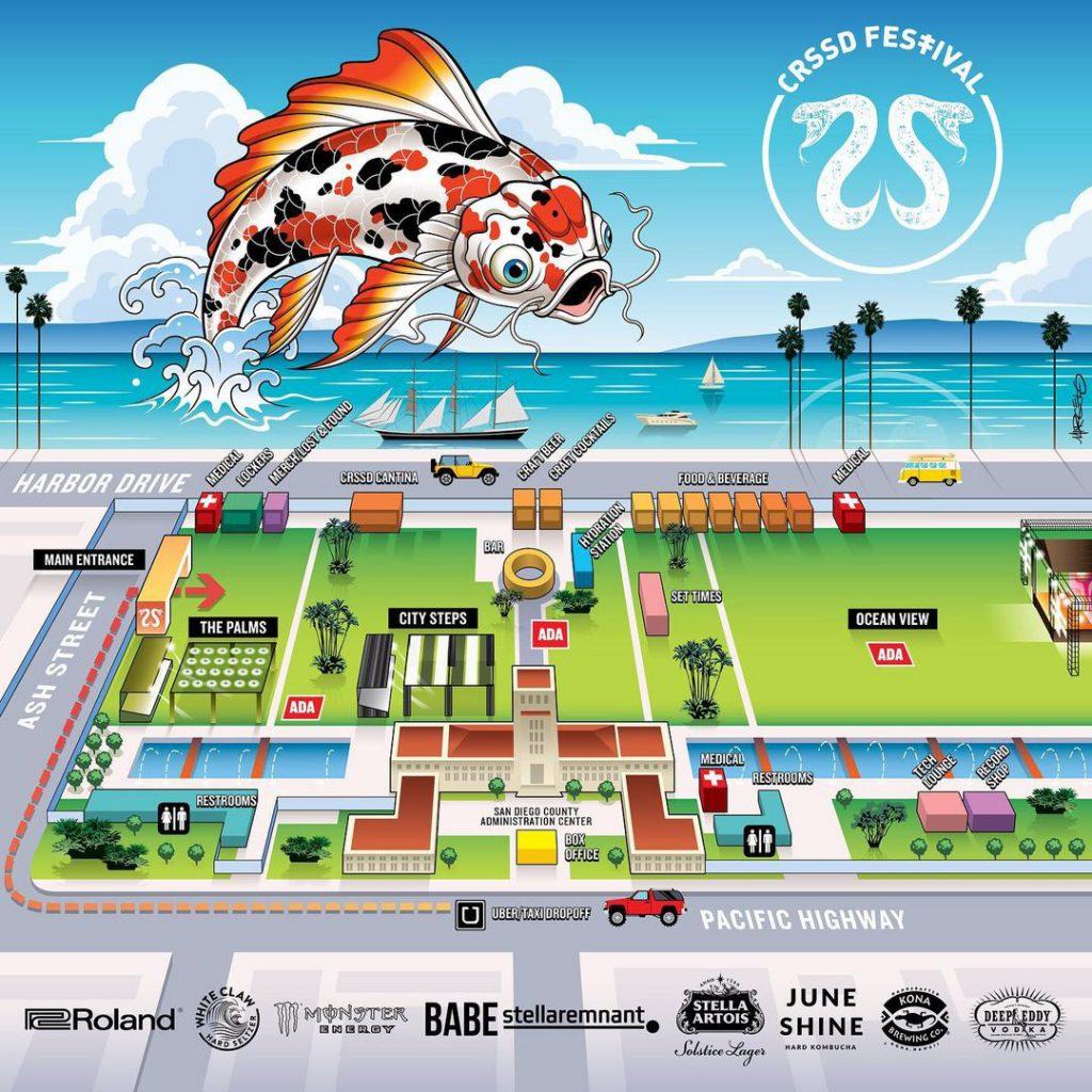 CRSSD Festival Fall 2021 Festival Map