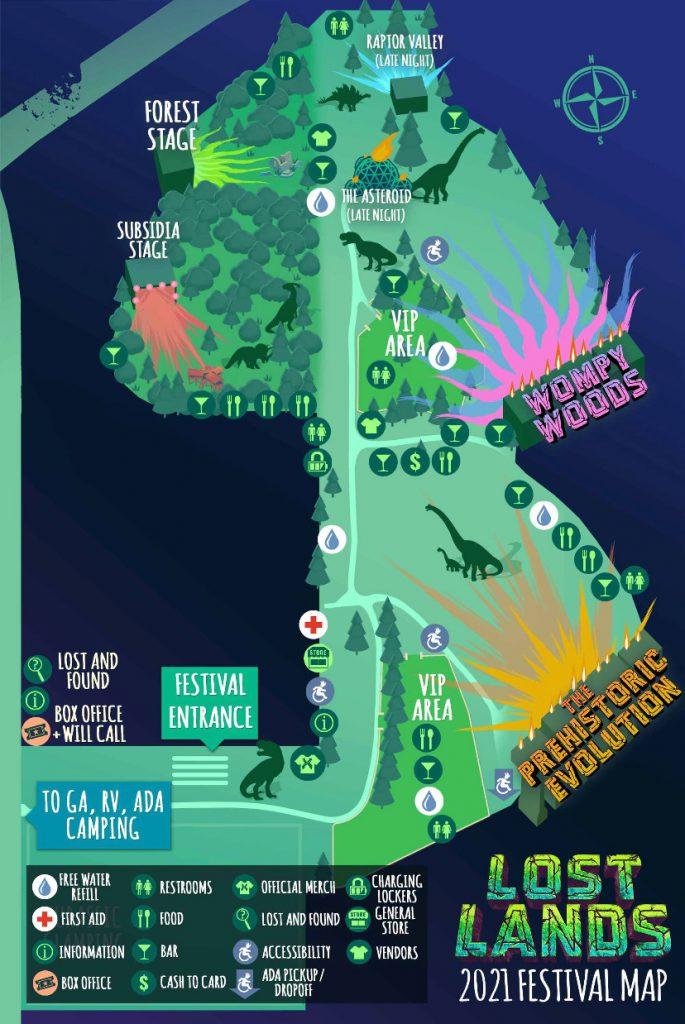 lost lands 2021 festival map