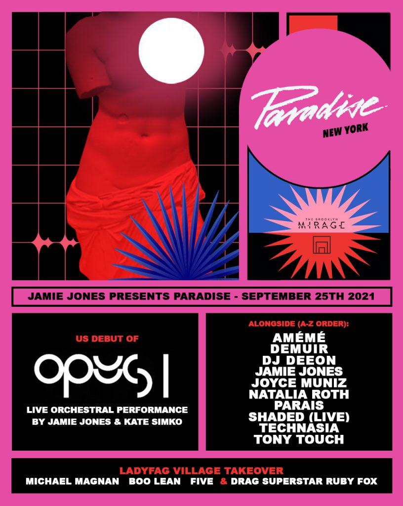 Jamie Jones Presents Paradise New York 2021 - Lineup